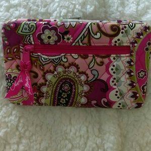 Vera Bradley Wallet Large Pink Floral